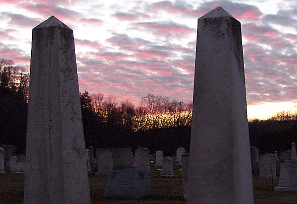 Sunset over Logan Valley Cemetery